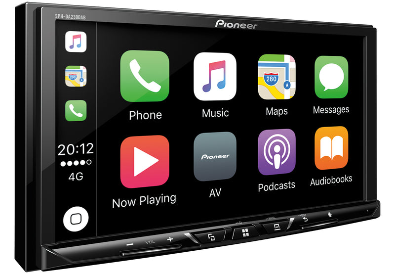 "Pioneer 7"" Double DIN Multimedia Station with CarPlay and Bluetooth SPH-DA230 by Pioneer - CarAudioStuff"
