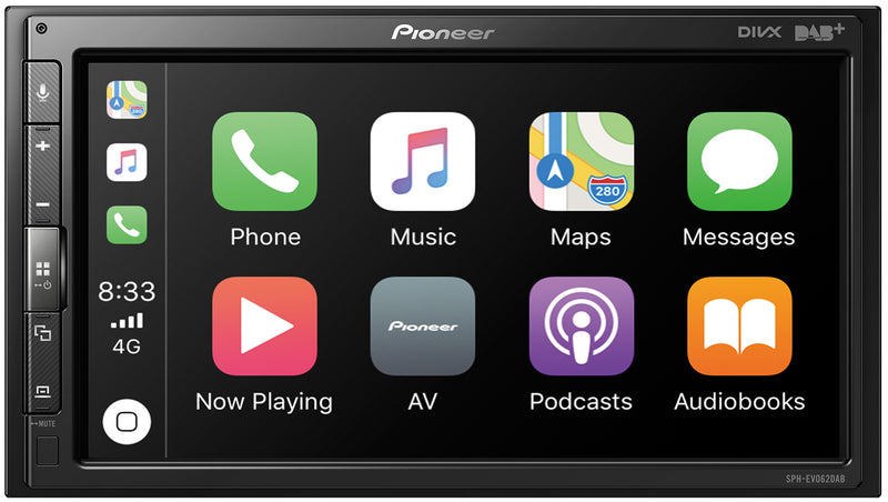 "Pioneer 6.8"" Touch Screen Modular Headunit with CarPlay and Android Auto EVO62DAB by Pioneer - CarAudioStuff"