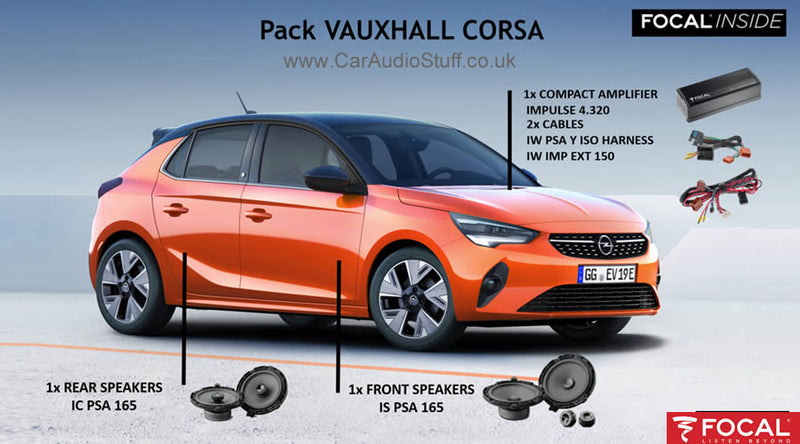 FOCAL PLUG AND PLAY KIT FOR VAUXHALL CORSA by Focal - CarAudioStuff