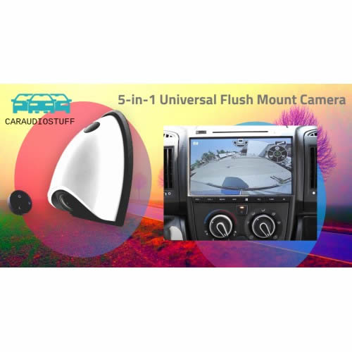 Pro Wide Angle Universal Flush Mount Camera by CAS - CarAudioStuff