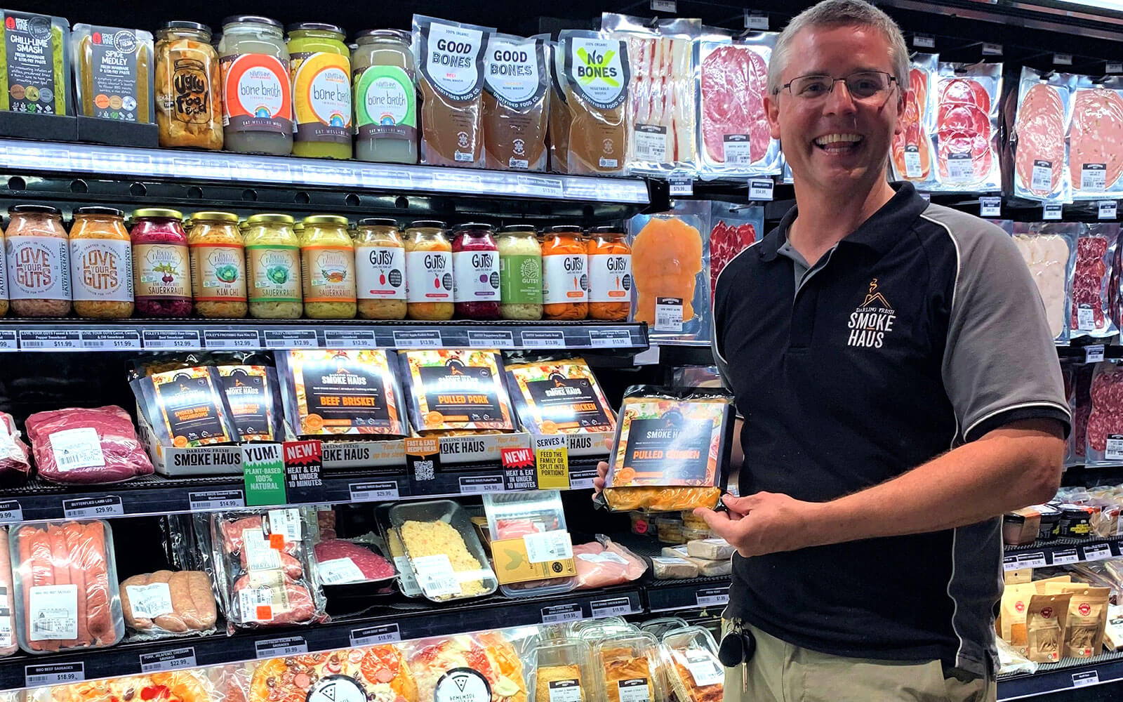 Jeff is pretty happy about the way our products now look instore!