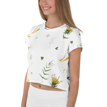 Load image into Gallery viewer, Watercolour Mix All-Over Print Crop Tee