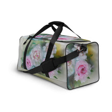 Load image into Gallery viewer, Vintage Rose Yellow Duffle bag