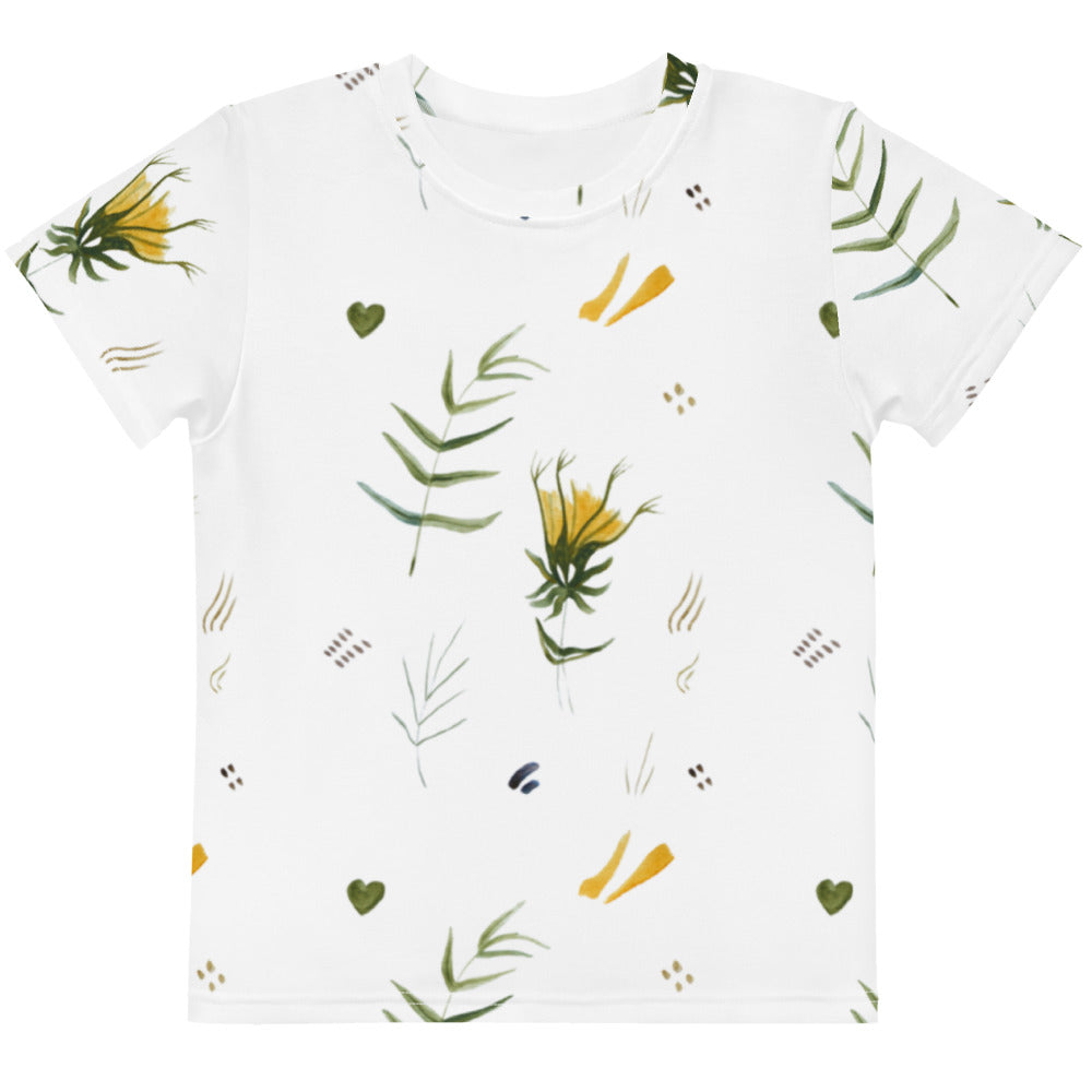 Watercolor Mix Kids Crew Neck T-shirt