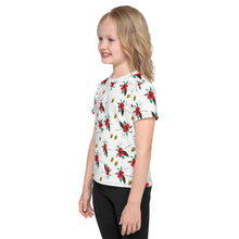 Load image into Gallery viewer, Red Hibiscus Kids Crew Neck T-Shirt