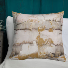Load image into Gallery viewer, Gold Marble Premium Pillow