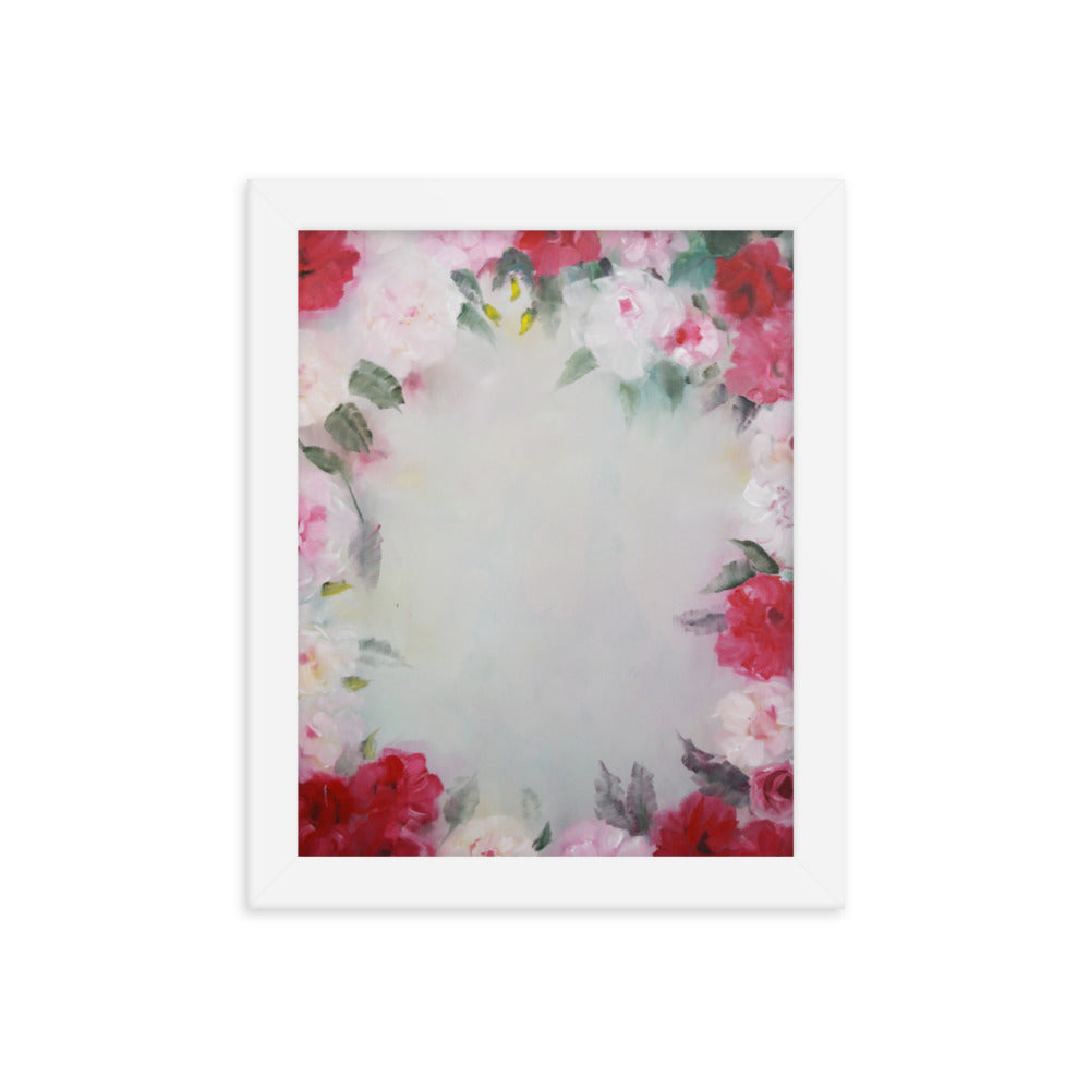 Rose Wreath Framed poster