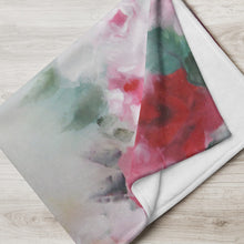 Load image into Gallery viewer, Rose Wreath Throw Blanket