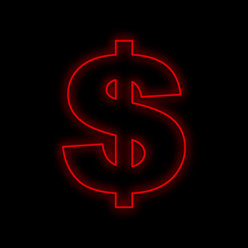 Dollar Sign Neon Sign