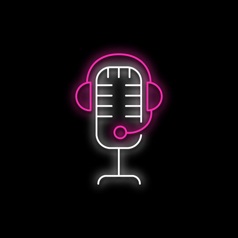 Microphone Neon Sign