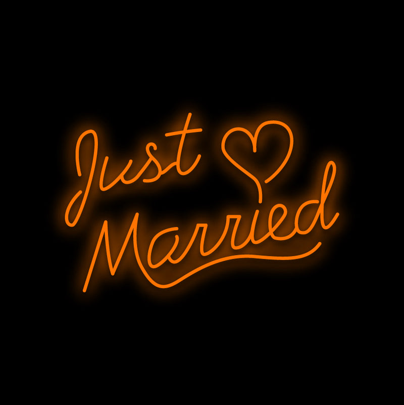 Just Married Neon Sign