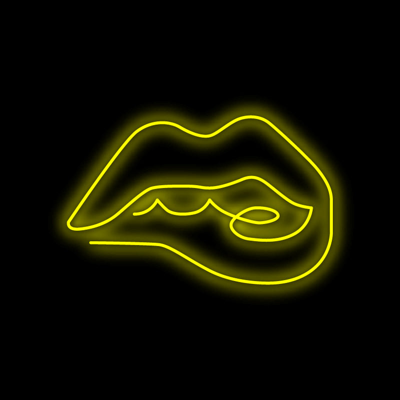 Biting Lips Neon Sign