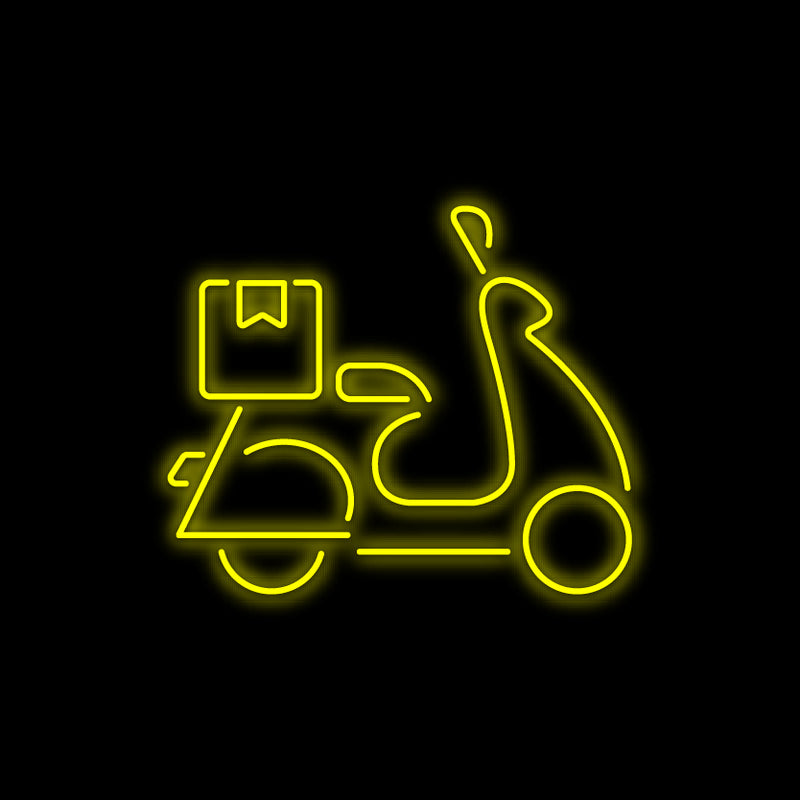 Delivery Motorcycle Neon Sign