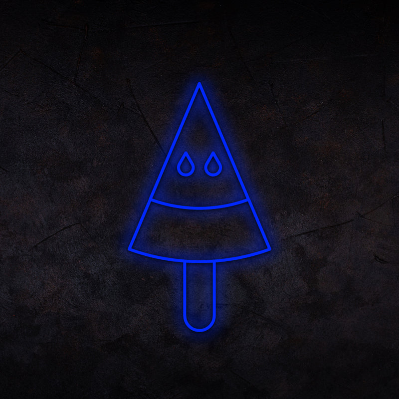 Pyramid Ice Cream Neon Sign