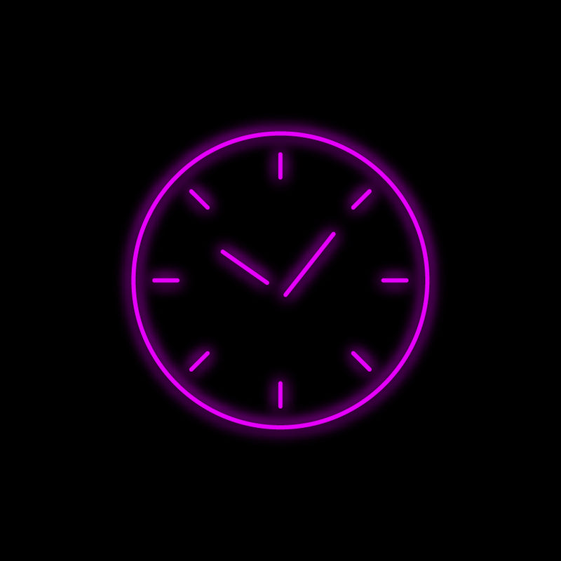 Time Neon Sign