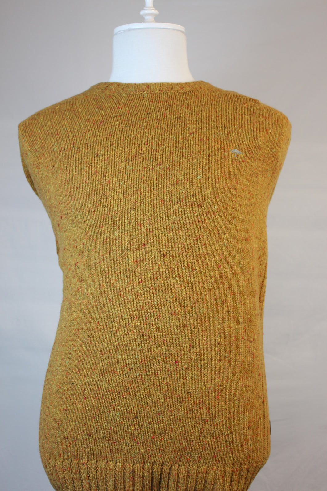 Fynch Hatton Chunky C-Neck Mustard