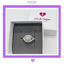 Load image into Gallery viewer, Sterling Silver Ring with Crown Setting