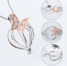 Load image into Gallery viewer, Butterfly Locket - Sterling Silver