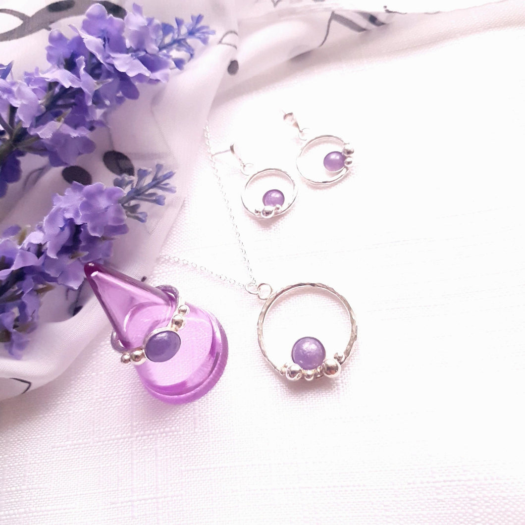 Handmade in Hampshire Bubble Ring - mainstone inlcusion