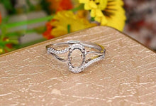 Load image into Gallery viewer, Oval Wave Ring Sterling Silver