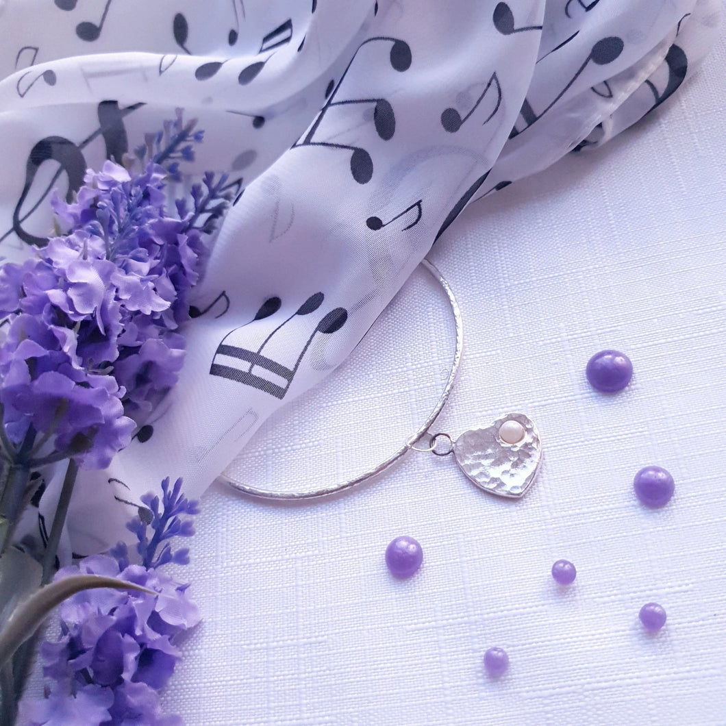 Handmade in Hampshire Hammered Bracelet - Breastmilk/Ashes and more