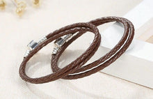 Load image into Gallery viewer, Leather Braid Bracelet