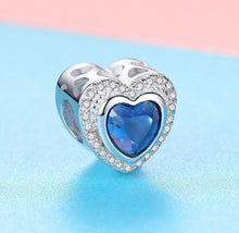 Load image into Gallery viewer, Blue Heart Charm