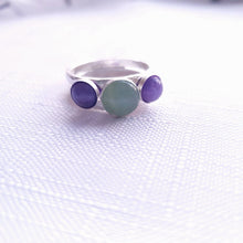 Load image into Gallery viewer, Handmade in Hampshire Hammered Ring - Centre Gem Birthstone