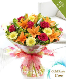 Have A Good Day By Maya Flowers - Free Golden Rose flowers Mayaflowers