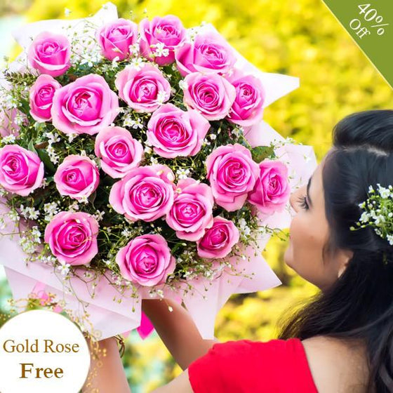 Expressions of Pink By Maya Flowers - Free Golden Rose flowers Mayaflowers