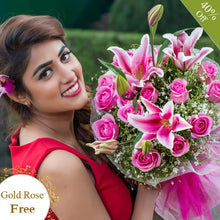 Modern Pink Roses By Maya Flowers - Free Golden Rose flowers Mayaflowers