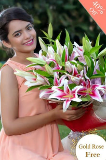 Lovely Pink By Maya Flowers - Free Golden Rose flowers Mayaflowers
