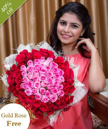 Shades of Pink and Red By Maya Flowers - Free Golden Rose flowers Mayaflowers