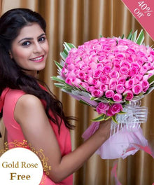 Passion for Pink Roses By Maya Flowers - Free Golden Rose flowers Mayaflowers