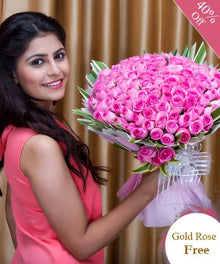 Pink Roses By Maya Flowers - Free Golden Rose flowers Mayaflowers