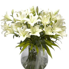Pastel White - Vase Included flowers Mayaflowers