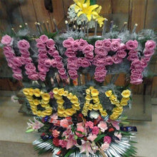Happy Birthday Alphabetical Arrangement flowers Mayaflowers