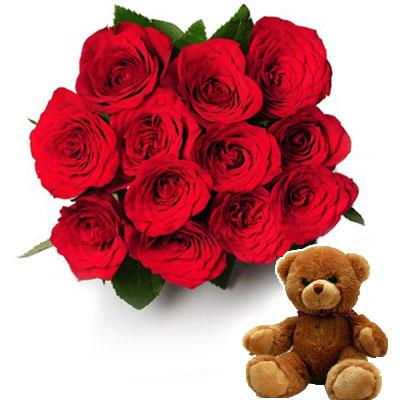 Red Romance & Cute Bear flowers Mayaflowers