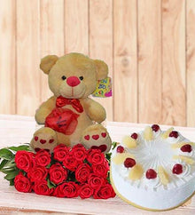 Perfect Birthday Gift Set (With Pineapple Cake) flowers Mayaflowers
