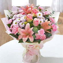 Pretty Pink & White - Hand Tied flowers Mayaflowers