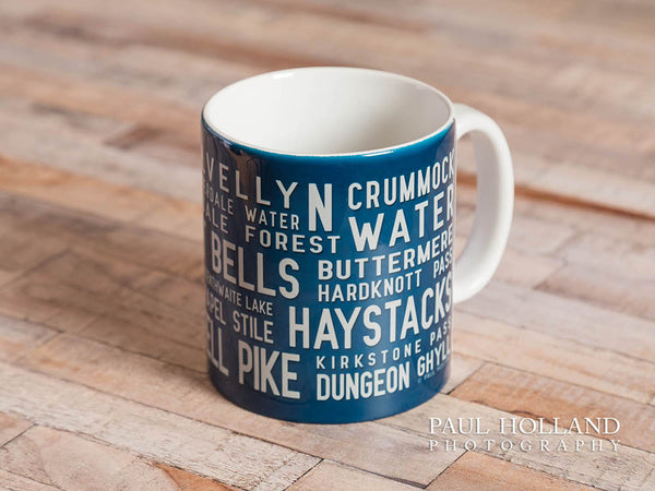 Photo of a mug design in blue, available from Paul Holland Photography