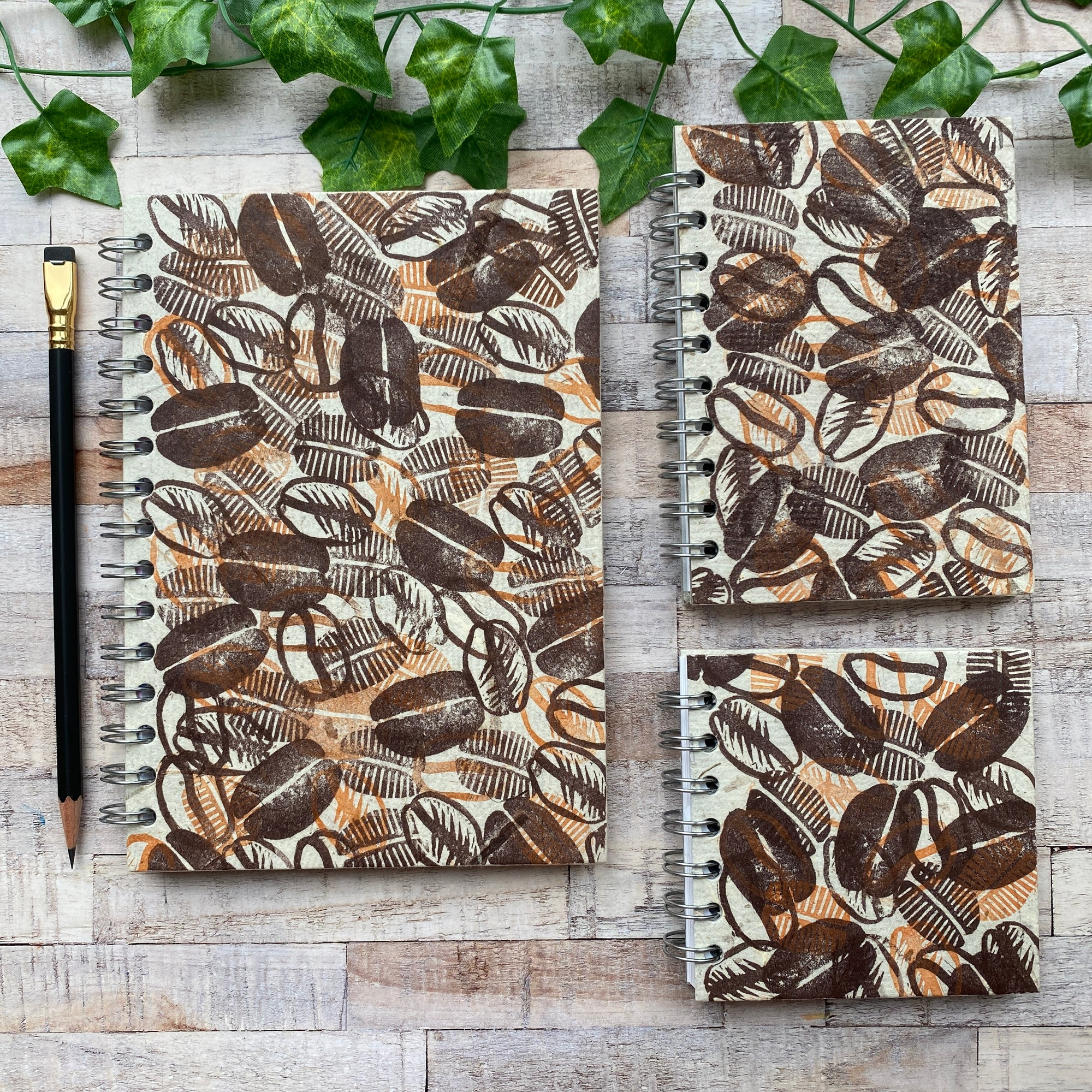 Coffee Sketchbooks Block Print