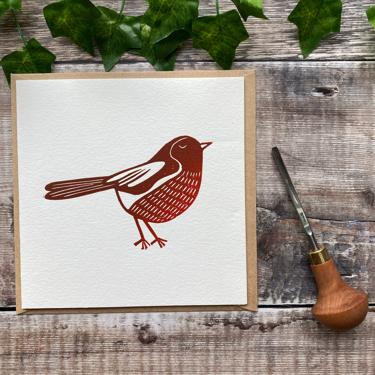 Greetings Card Two-Pack - Present and Robin