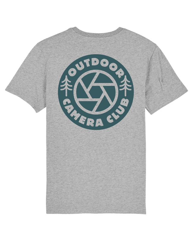 Grey Short Sleeve Logo Tee - Sea Blue