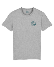 Load image into Gallery viewer, Grey Short Sleeve Logo Tee - Sea Blue