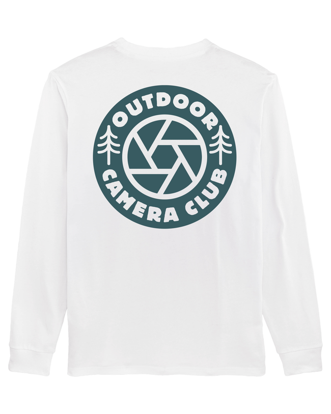 Long Sleeve Logo Tee - Sea Blue