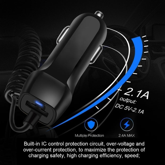 Universal Car Charger With USB Cable