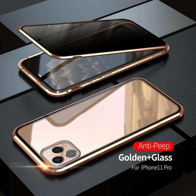 Double Tempered Magnetic Glass Phone Case Cover