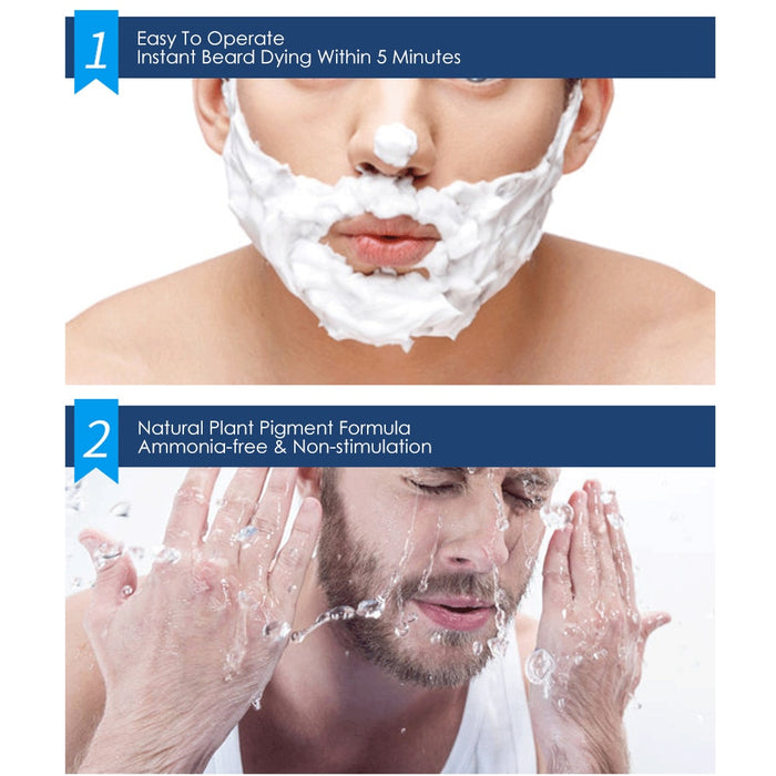 Men Beard Dying Shampoo