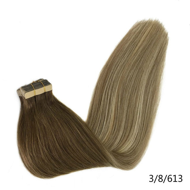 Seamless Straight Human Hair Extensions